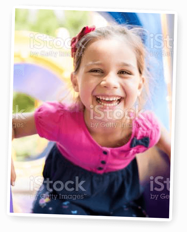 healthy girl smiling
